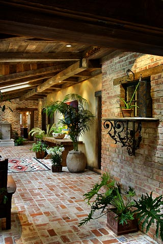 Historic rancho style home atrium What is an atrium in a house